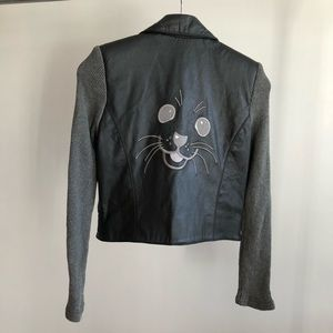Jean Airoldi 90s VTG Seal Face Leather Jacket